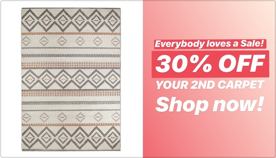 30% Off 2nd Carpet